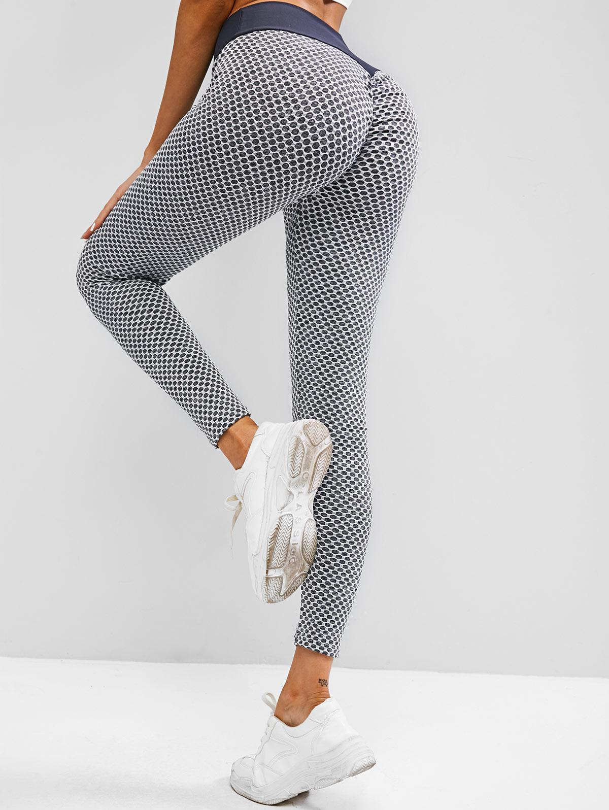 Honeycomb Scrunch Bum High Waisted Leggings