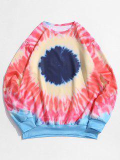 Sweat-shirt Teinté Coloré Imprimé - Rose S