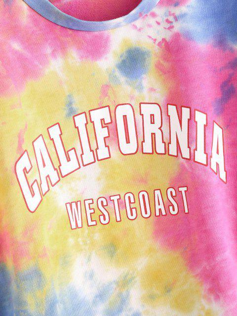 Sweat-shirtGraphiqueTeintéColoré - Rose clair S Mobile