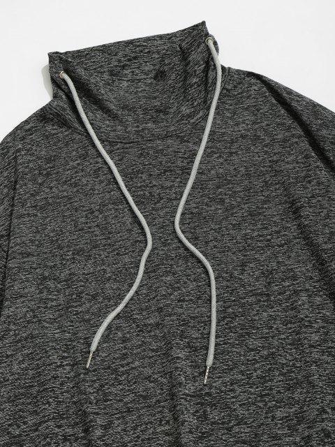 chic ZAFUL Space Dye Stripe Casual Sweatshirt - BLACK 2XL Mobile