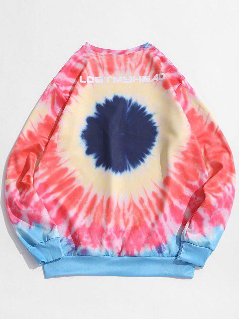 Sweat-shirt Teinté Coloré Imprimé - Rose  XS Mobile
