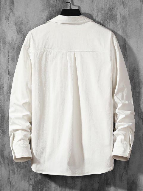 women's Letter Graphic Print Long Sleeve Shirt - WHITE 2XL Mobile