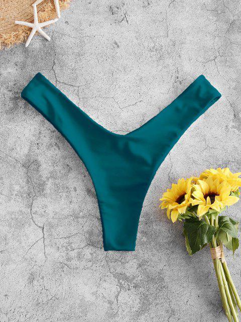 affordable ZAFUL High Cut Bikini Bottom - DEEP GREEN S Mobile