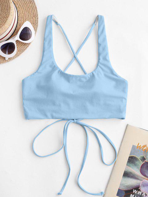 Bikini Top Corto di ZAFUL con Scollo a U - Azzurro S Mobile