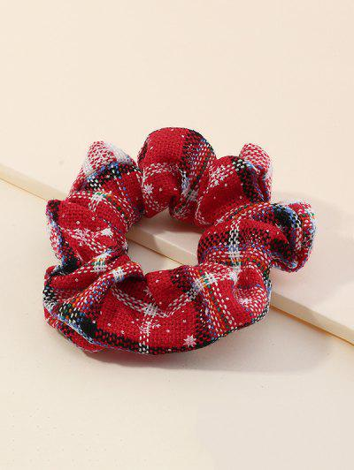 Christmas Checked Scrunchy - Red Wine