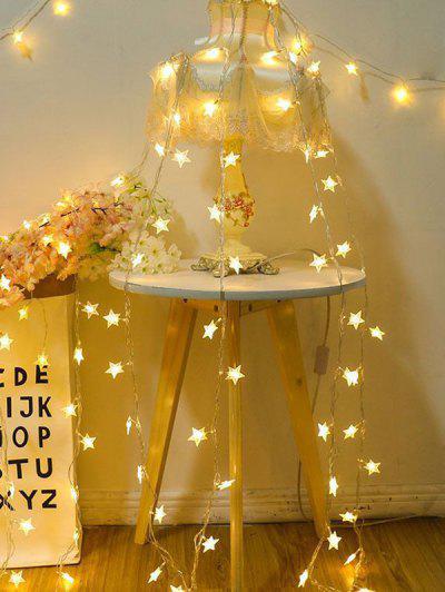 Star Shape Bedroom Hanging Waterproof String Lights - Multi-a