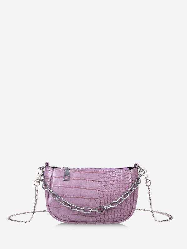 Animal Embossed Chain Mini Sling Bag