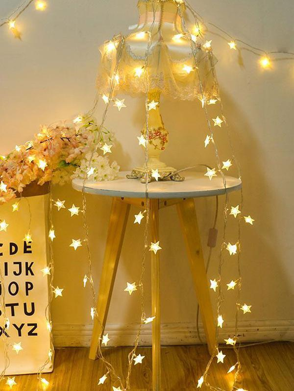 Star Shape Bedroom Hanging Waterproof String Lights