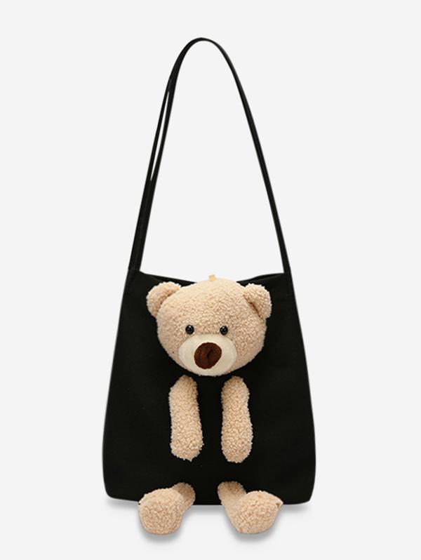 Cute Bear Canvas Shoulder Bag