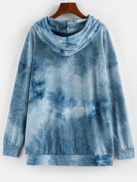 ZAFUL Tie Dye Sun Graphic Hoodie - أزرق M Mobile