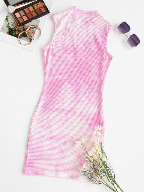 best ZAFUL Tie Dye Mini Bodycon Dress - HOT PINK M Mobile