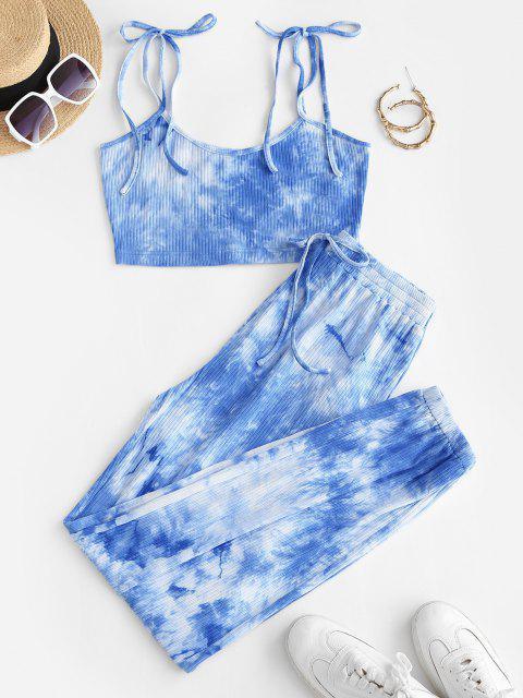 ladies ZAFUL Tie Dye Co Ord Set - MULTI-A S Mobile