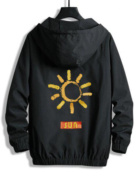 Veste à Capuche SUN Graphique Zippée - Noir XS Mobile