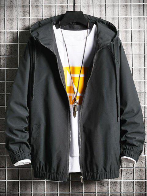 Veste Coupe-Vent Chien Cool Imprimé Zippée - Noir XS Mobile