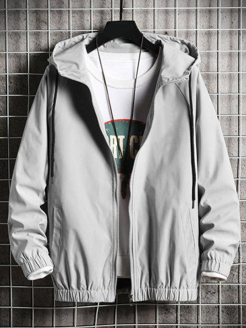 new Hooded Windbreaker DAZZLING YOU Panda Jacket - PLATINUM S Mobile