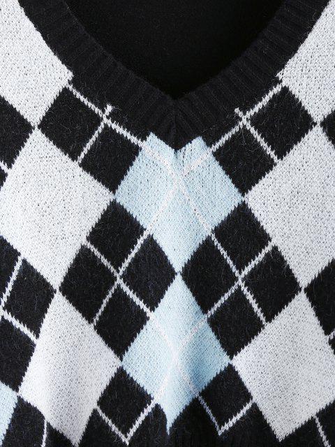 ZAFUL Camisola de Colheita de Decote em V Cortado - Preto M Mobile