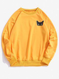 ZAFUL Sweat-shirt Animal Imprimé à Col Rond - Jaune Xl