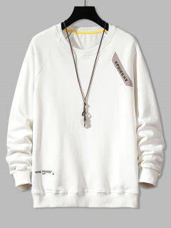 Sweat-shirtLettreImpriméeManchesRaglan àColRond - Blanc Xs