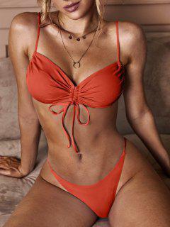 Costume Da Bagno Bikini Increspato Di ZAFUL A Costine - Rosso M
