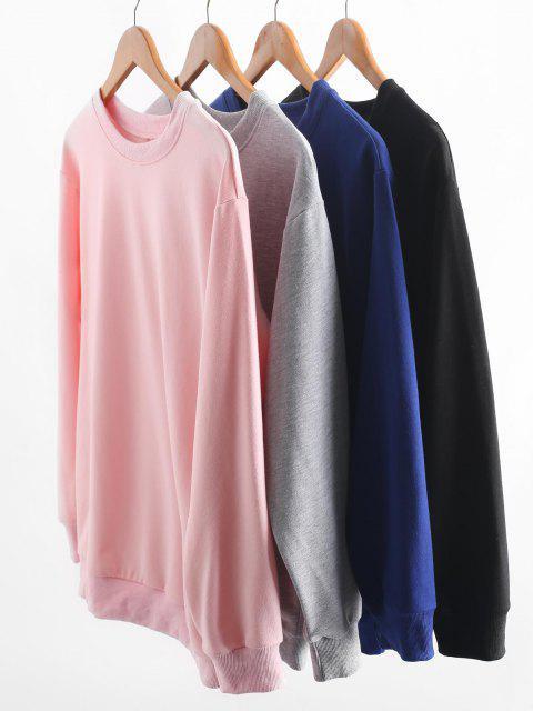 online Basic Drop Shoulder Pullover Sweatshirt - BLUE S Mobile