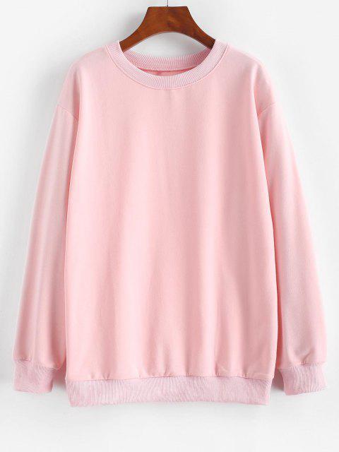 Sweat-shirt de Base à Goutte Epaule - Rose clair S Mobile