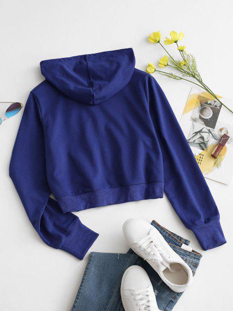 Veste à Capuche Soleil Imprimé à Cordon - Bleu L Mobile