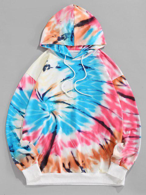 buy ZAFUL Tie Dye Print Hoodie - MULTI S Mobile