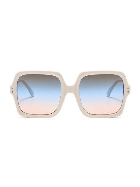 lady Travel Square UV Protection Sunglasses - WHITE  Mobile