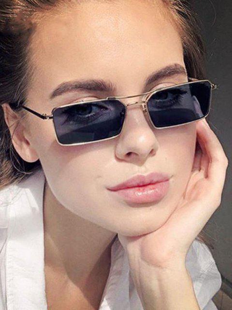 best Metal Rectangle Crossbar Sunglasses - BLACK  Mobile