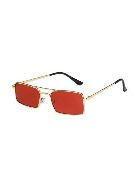 online Metal Rectangle Crossbar Sunglasses - RED  Mobile
