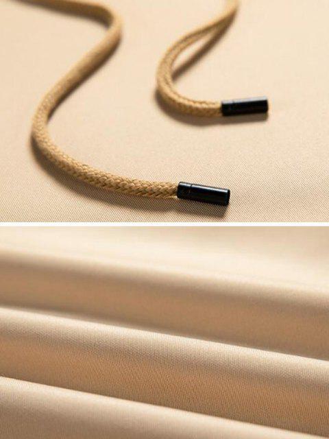 fashion Letter Applique Raglan Sleeve Contrast Hoodie - WHITE XL Mobile