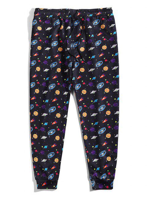 Pantalones de Planas de La Galaxia de Universo - Negro XL Mobile