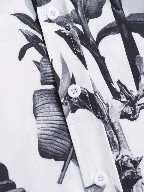 Chemise Imprimée Partout Boutonnée à Manches Longues - Nuage Gris XL Mobile