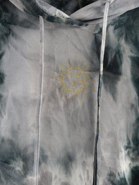 ZAFUL Tingimento de Gravata Pulôver Moletom - Cinza claro M Mobile
