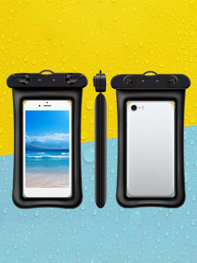 Floating Inflatable Touch-screen Waterproof Mobile Phone Bag - Black
