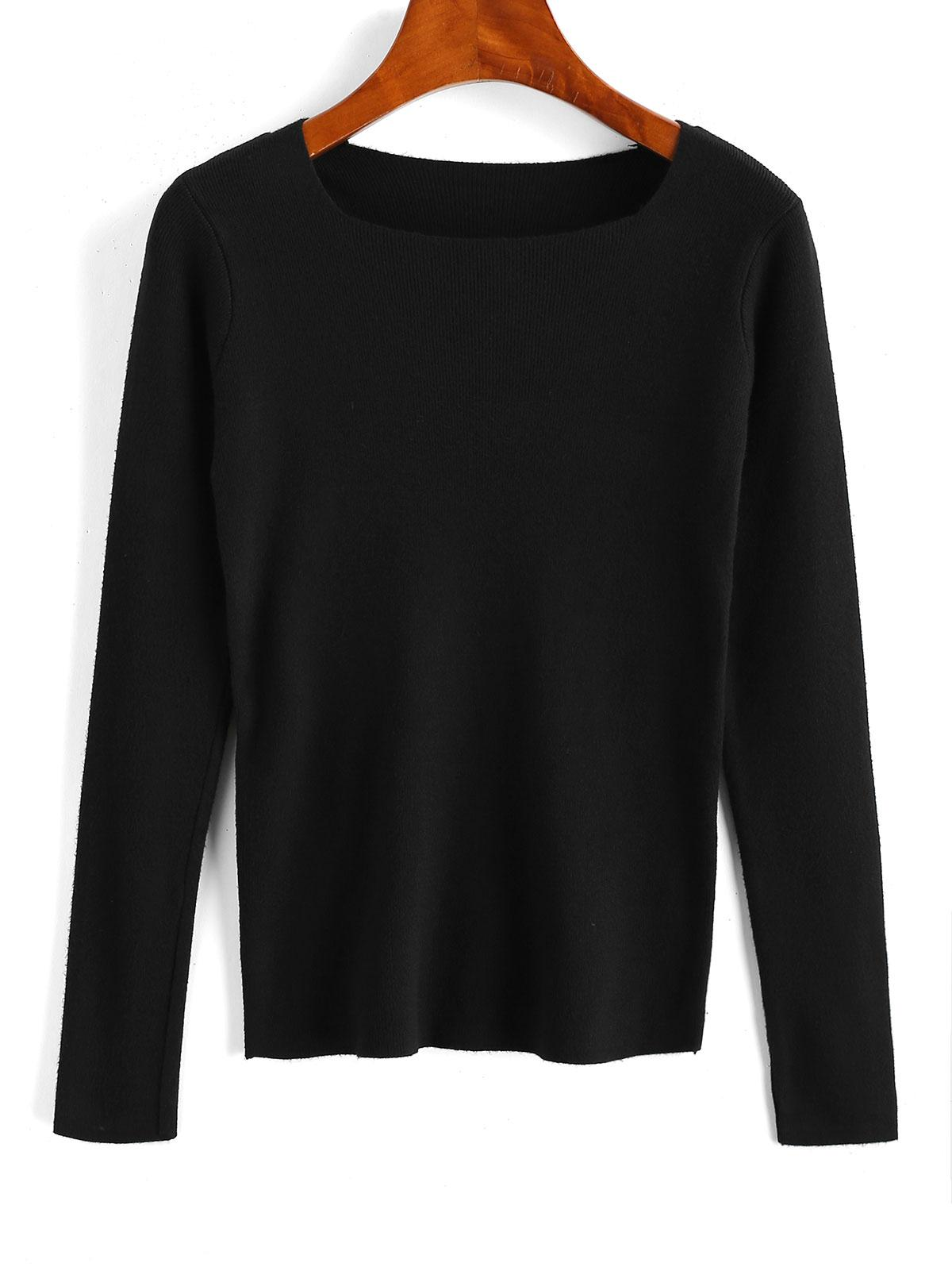 Slim Plain Jumper Knitwear