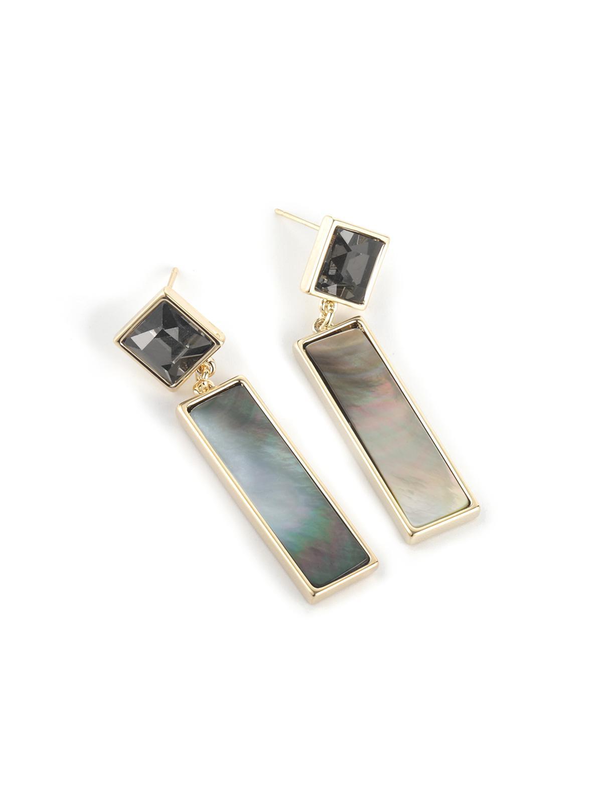 Geometric Shell Copper Earrings