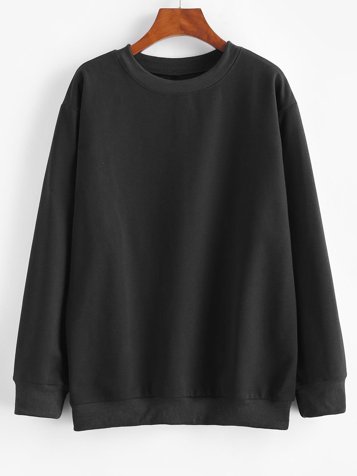 Basic Drop Shoulder Pullover Sweatshirt