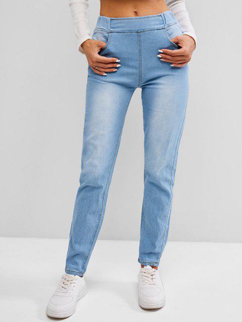 Jean Moulant au Lavage Léger avec Poches - Bleu Léger  M Mobile