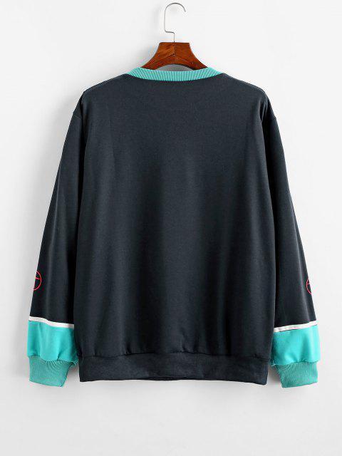 Sweat-shirt Décontracté Motif Graphique Dessin Animé - Bleu profond 2XL Mobile
