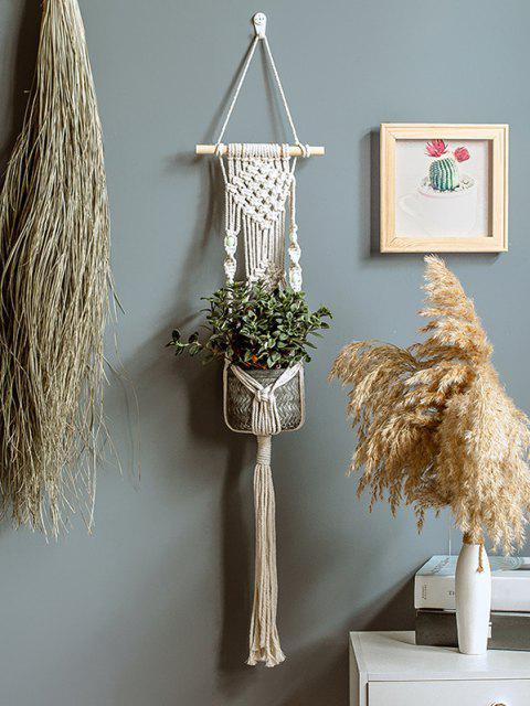 latest Crochet Tassel Plant Hanger For Pot Holder - WARM WHITE  Mobile