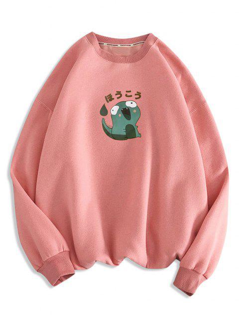 Sweat-shirt Décontracté Motif de Dinosaure Dessin Animé - Rose  M Mobile