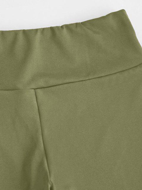 Leggings mit Hoher Taille - Hellgrün L Mobile