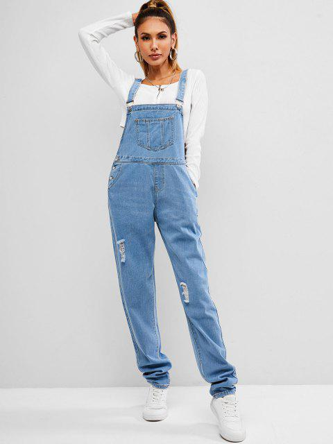Zerrissene Denim-Overall - Blau XL Mobile