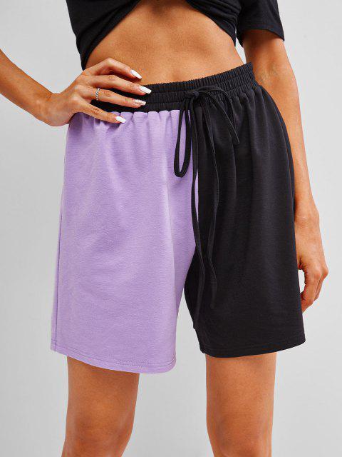 ZAFUL Shorts de Dos Colores - Púrpura M Mobile