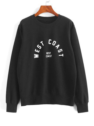 Pullover WEST COAST Graphic Sweatshirt - Black Xl