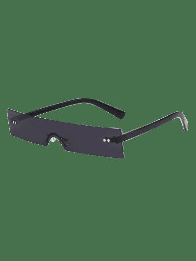 Narrow Rectangle Rimless Sunglasses