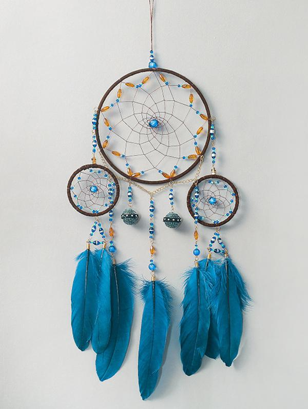 Feather Fringe Beads Handmade Hanging Dreamcatcher