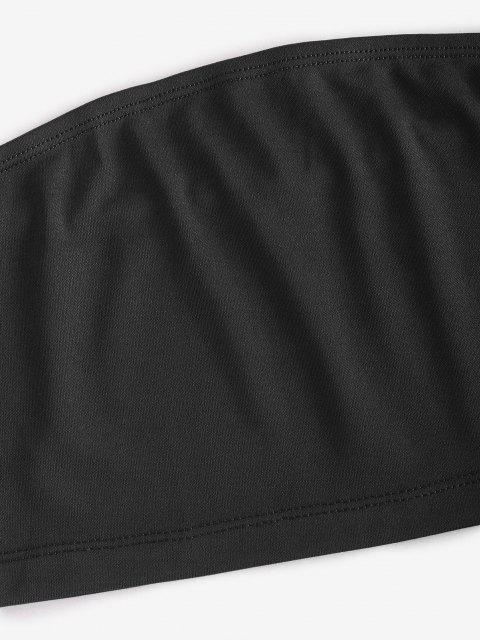 trendy Bandeau Top and Camo Jogger Pants Set - CONCORD M Mobile