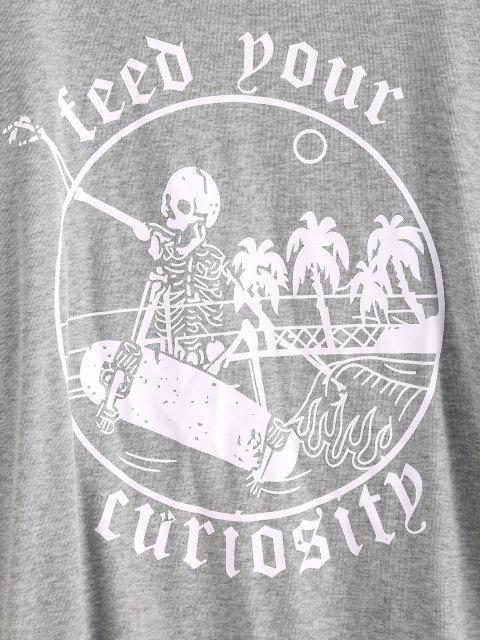 Moletom de Esqueleto do Dia das Bruxas - Cinzento S Mobile